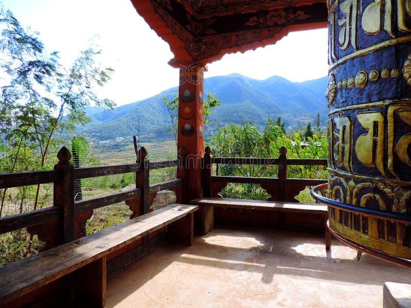 Chimi Lhakhang, Bhutan stockfoto