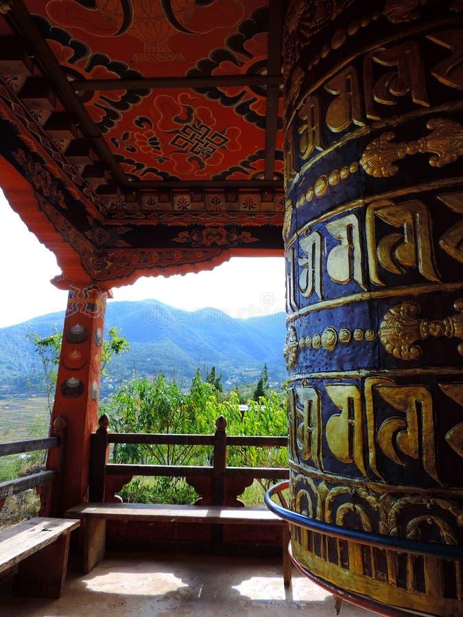 Chimi Lhakhang, Bhutan stockbild