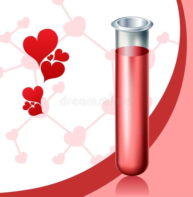 Chimica di amore illustrazione di stock