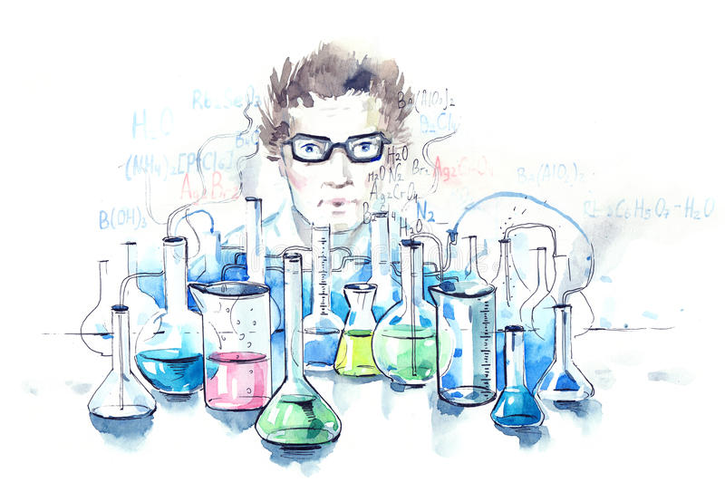 chimie illustration stock