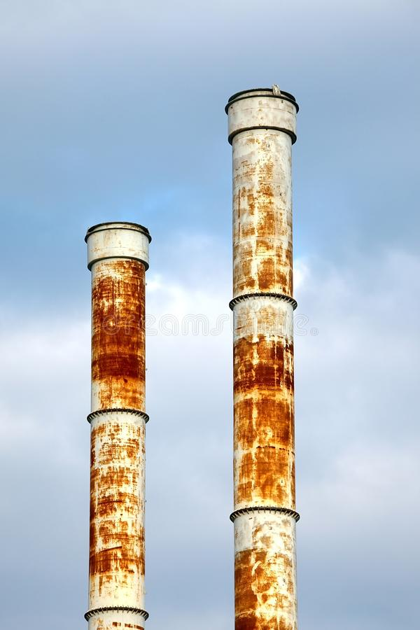 Download Chimney stock photo. Image of environmental, blue, greenhouse - 24757974