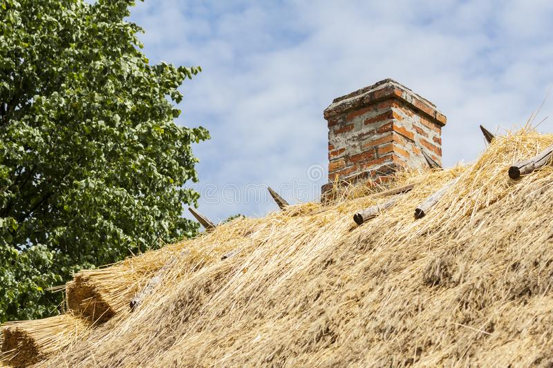 Chimney of bricks. Podlasie region in Poland. stock photography