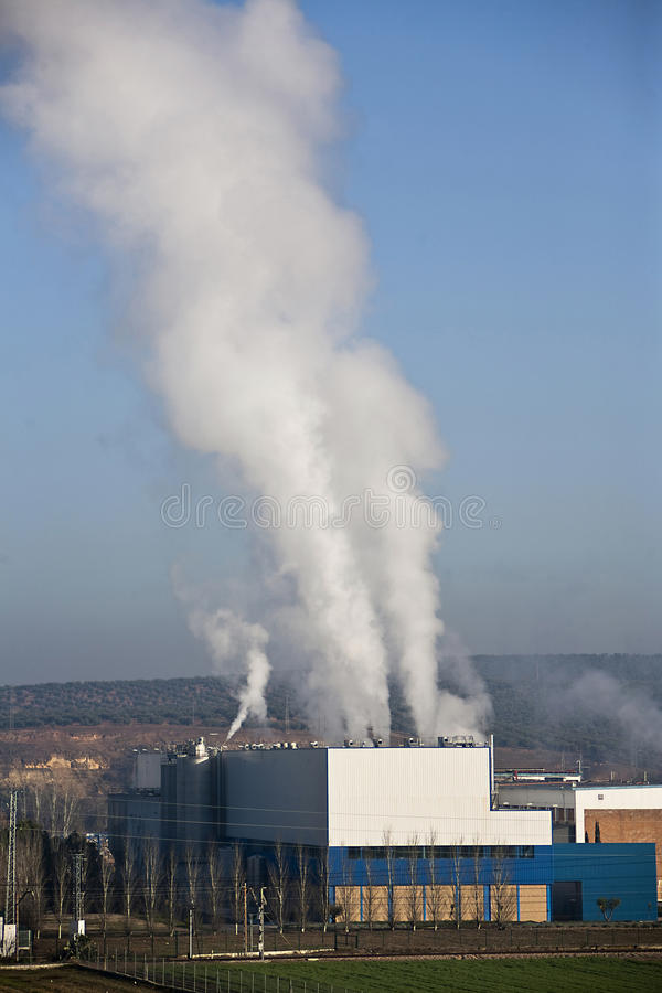 Chimney Expelling Pollutant Gases To The Air Stock Photos