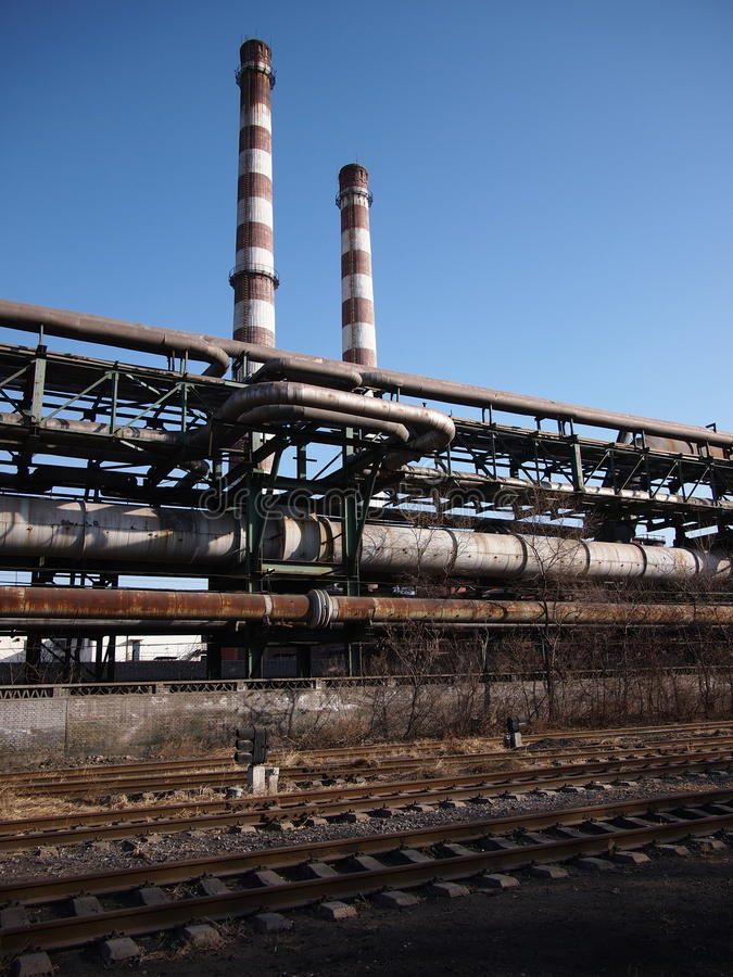 Chimney In Factory