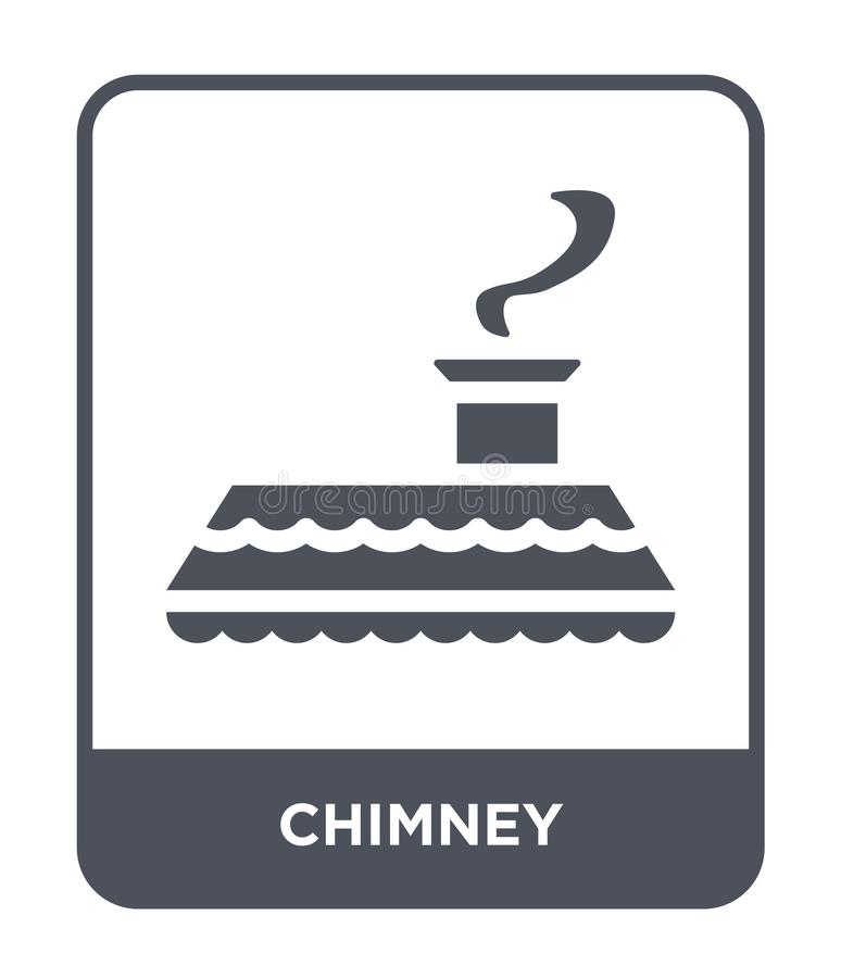 chimney icon in trendy design style. chimney icon isolated on white background. chimney vector icon simple and modern flat symbol royalty free illustration