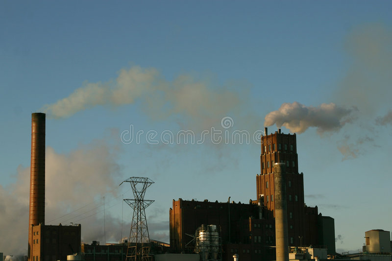 Chimney pollution royalty free stock image
