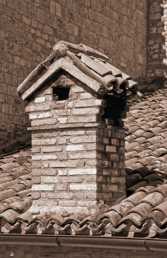 Download Chimney-pot. stock photo. Image of italy, detail, home - 15825842