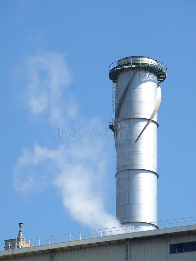 Chimney in a power central stock photos