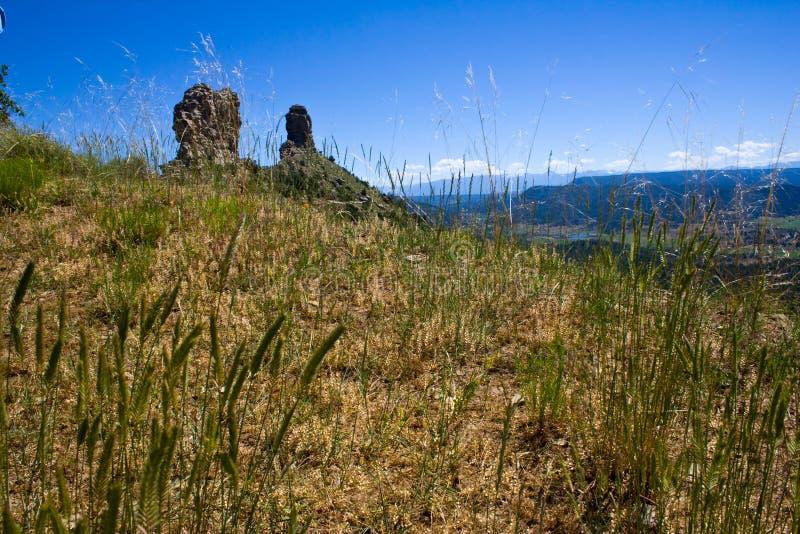 Chimney Rock in Colorado stock photography