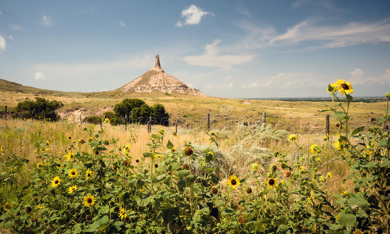 Chimney Rock Morrill County Western Nebraska royalty free stock images