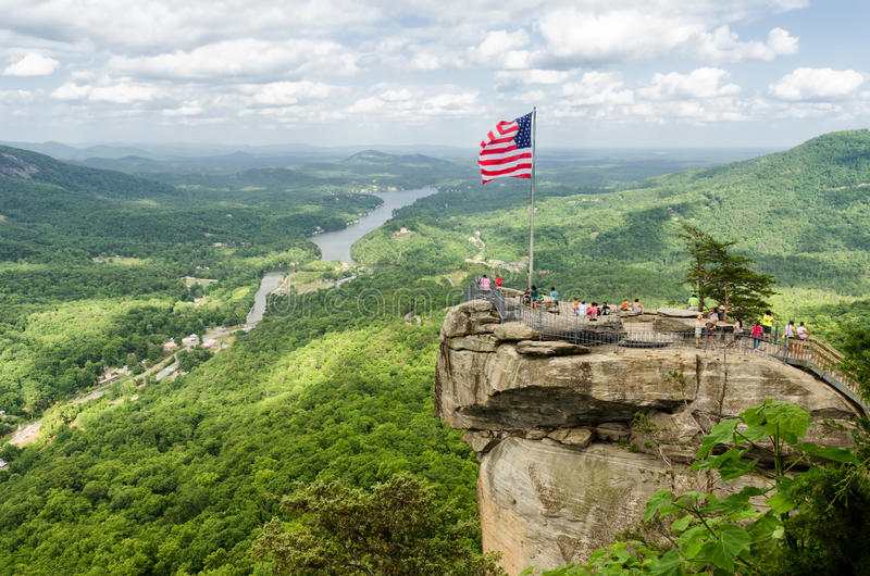 Chimney Rock mountain State Park stock image