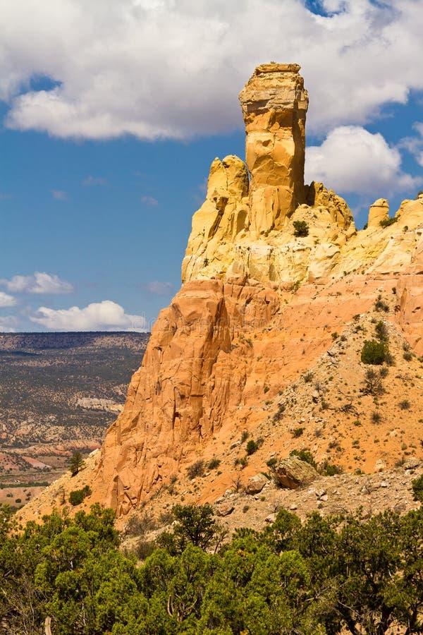 Chimney Rock, New Mexico rock formation stock photo