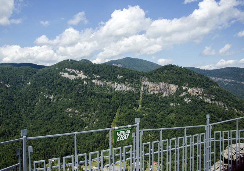 Chimney Rock North Carolina State Park Overlook view royalty free stock photo