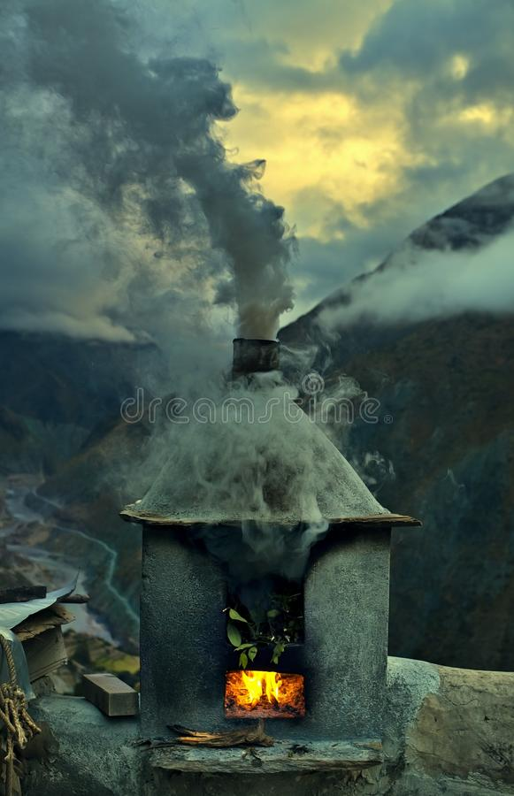 Download Chimney and Smoke stock image. Image of countryside, chinese - 22513281