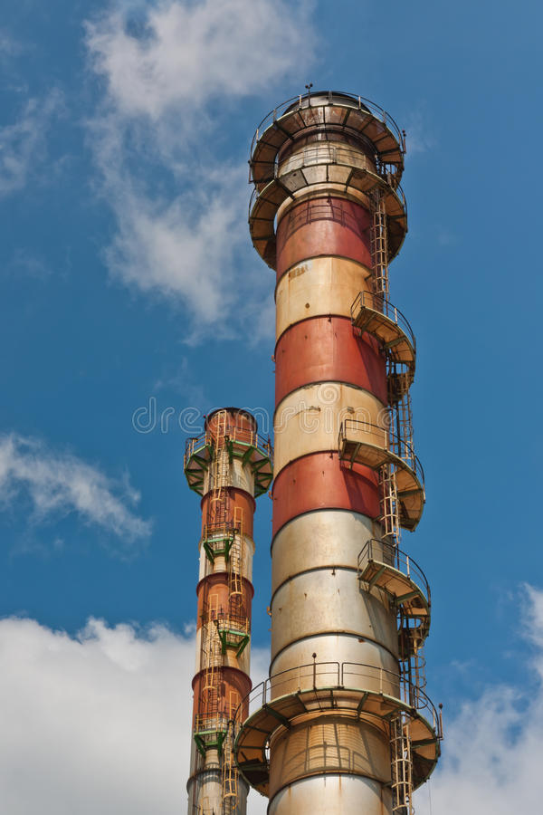 Download The Chimney Stack Of Steel Plant Stock Image - Image: 25186485