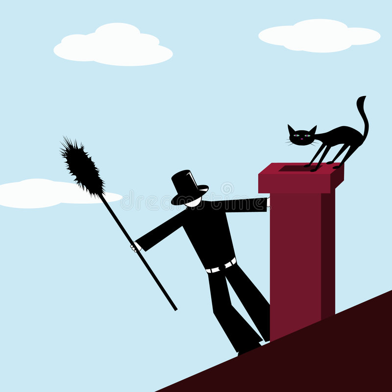 Download Chimney-sweep stock vector. Image of charm, soot, catling - 6233873