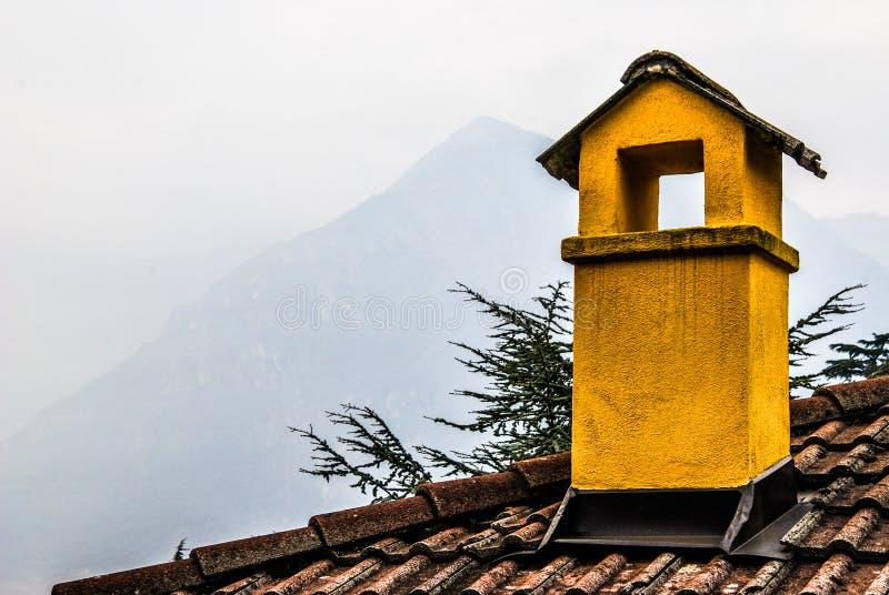 Chimney, Trento Italy stock photos
