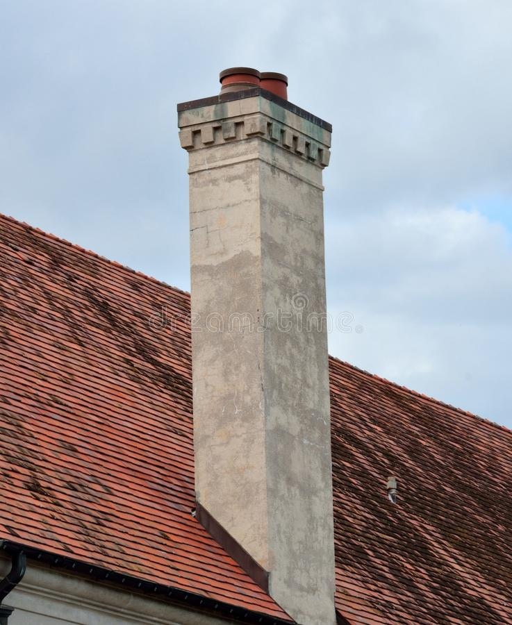 Free Chimney With Dentil Trim And Caps Royalty Free Stock Photo - 35120665