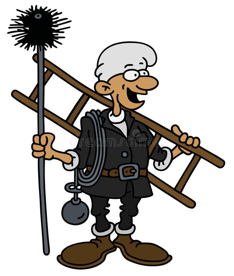 Chimneyer classique drôle illustration libre de droits