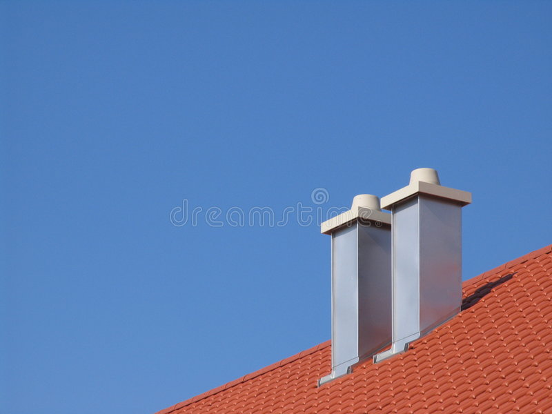 Chimneys stock photography