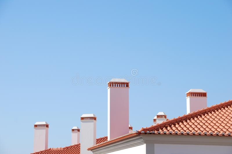 Download Chimneys background stock photo. Image of shingles, detail - 11168834