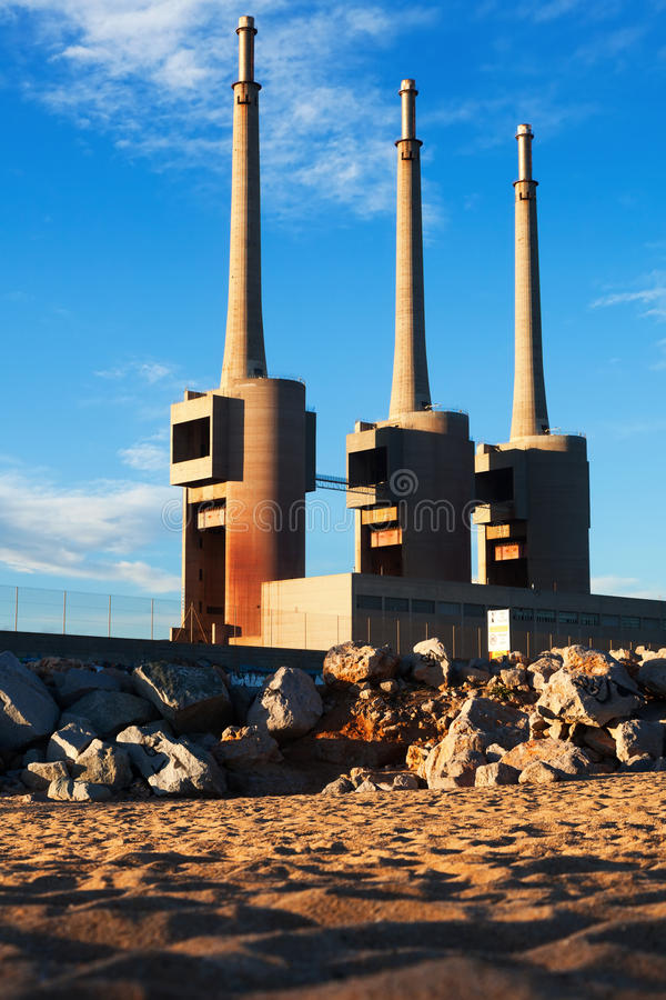Download Chimneys Of Closed Power Thermal Station Stock Image - Image: 39267119