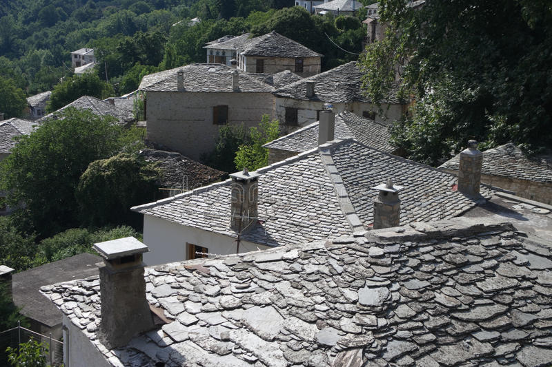 Chimneys On Stone Roofs royalty free stock images