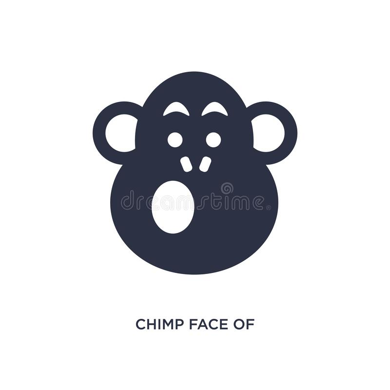 chimp face of brazil icon on white background. Simple element illustration from culture concept royalty free illustration
