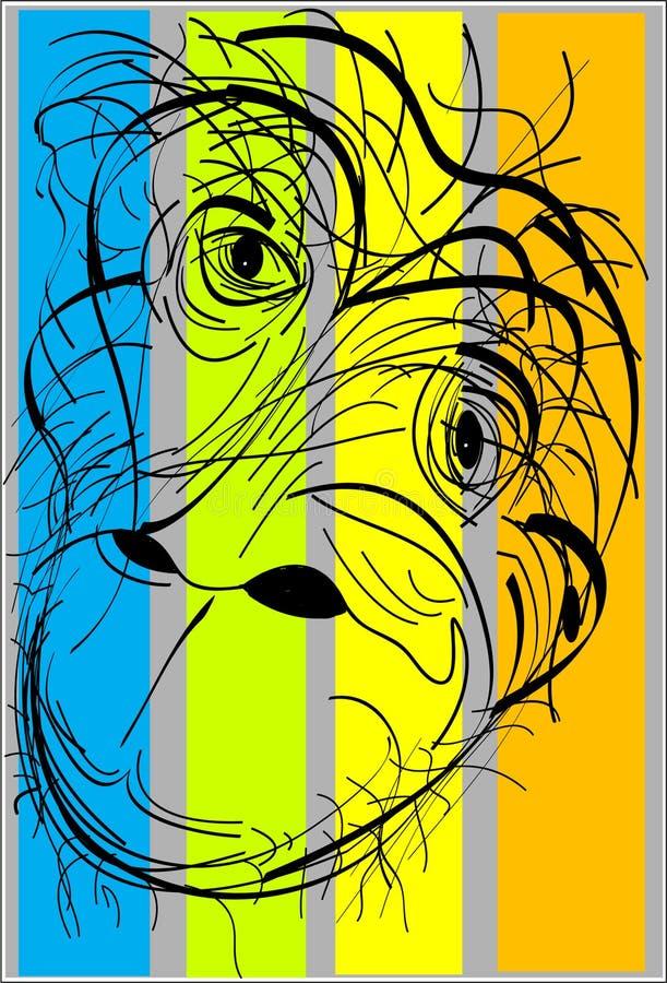 chimpanzé ilustração do vetor