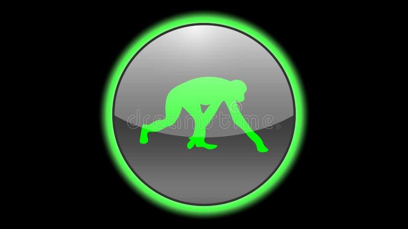 Chimpanzee icon vector design. Green neon icons with animals. Animals icons vector vector illustration