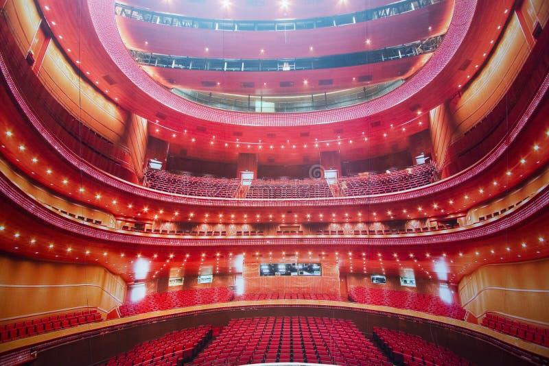 Chinês Ásia, Pequim, o teatro grande nacional, ópera foto de stock royalty free
