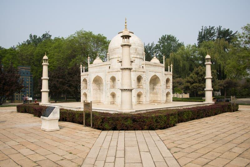 Chinês Ásia, Pequim, a paisagem de ŒMiniature do ¼ de Parkï do mundo, Taj Mahal imagem de stock royalty free
