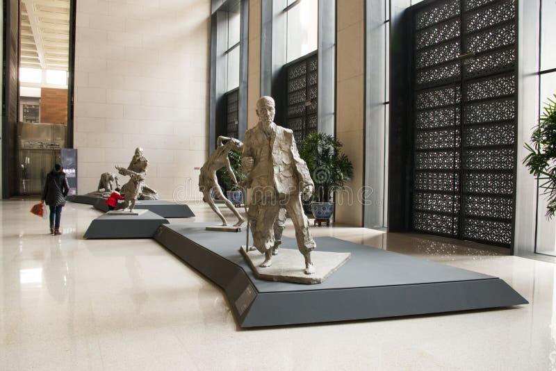 Chinês asiático, Pequim, Museu Nacional, escultura do tema fotos de stock royalty free