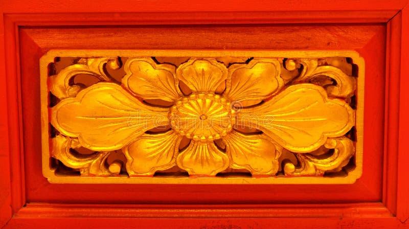 Chinês da escultura da flor foto de stock