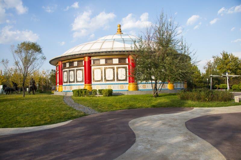 Chinês de Ásia, Pequim, expo do jardim, arquitetura paisagística, pacote de Mongólia, foto de stock royalty free