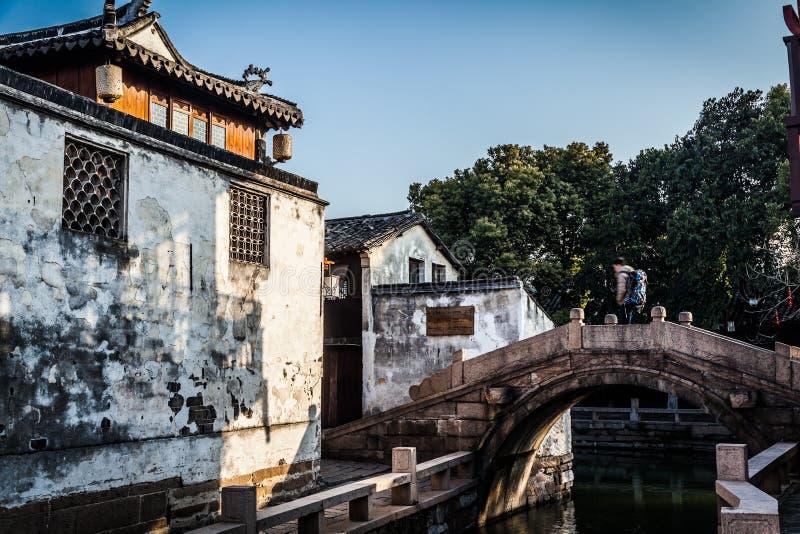 Chinês de Zhouzhuang, Veneza imagem de stock