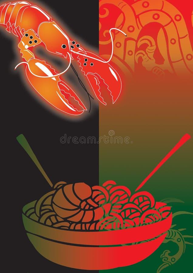 Chinês delicioso  ilustração do vetor