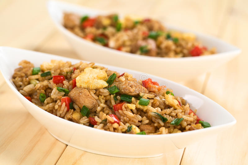 Chinês Fried Rice imagens de stock royalty free