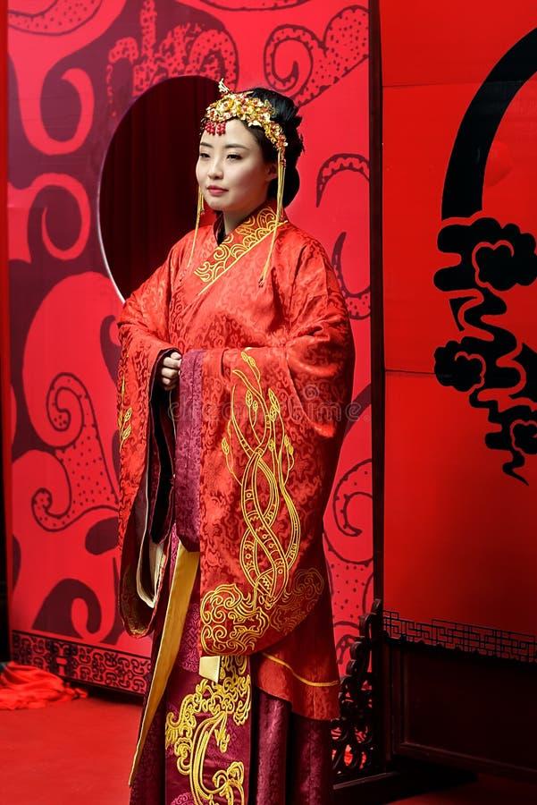 Chinês Han Dynasty Women Garments fotos de stock