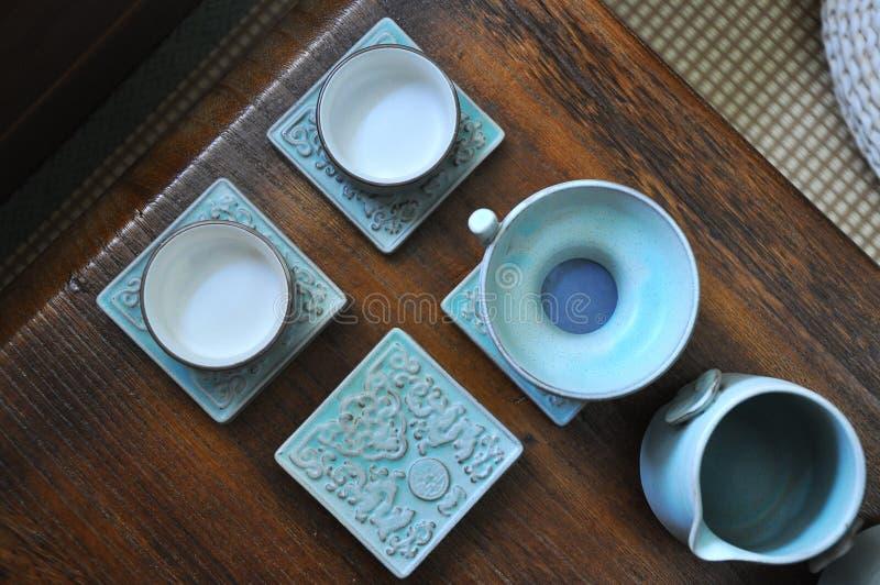 Chinês Kung Fu Tea Set fotografia de stock