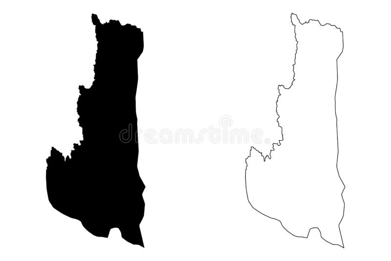 Chin State map vector. Chin State Administrative divisions of Myanmar, Republic of the Union of Myanmar, Burma map vector illustration, scribble sketch Chin map vector illustration