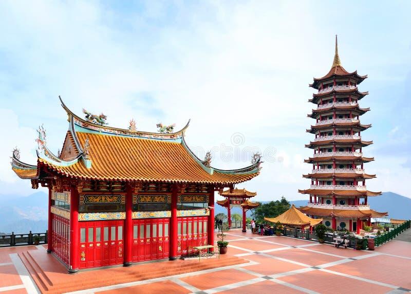 Chin Swee выдалбливает висок, гористую местность Genting стоковая фотография rf