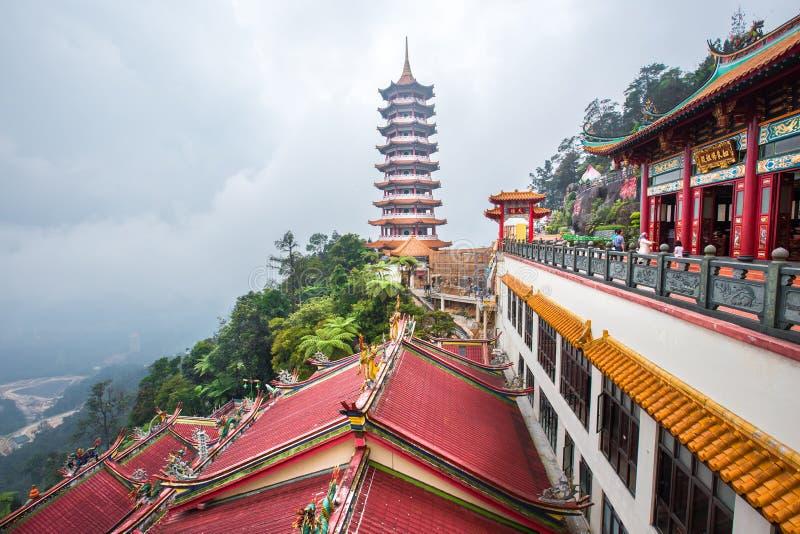 Chin Swee выдалбливает висок который расположен на гористых местностях Genting, туристах посещая и исследуя вокруг его стоковая фотография