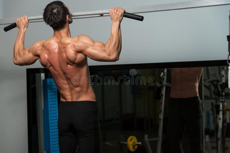 Chin Ups Workout For Back fotografia de stock royalty free