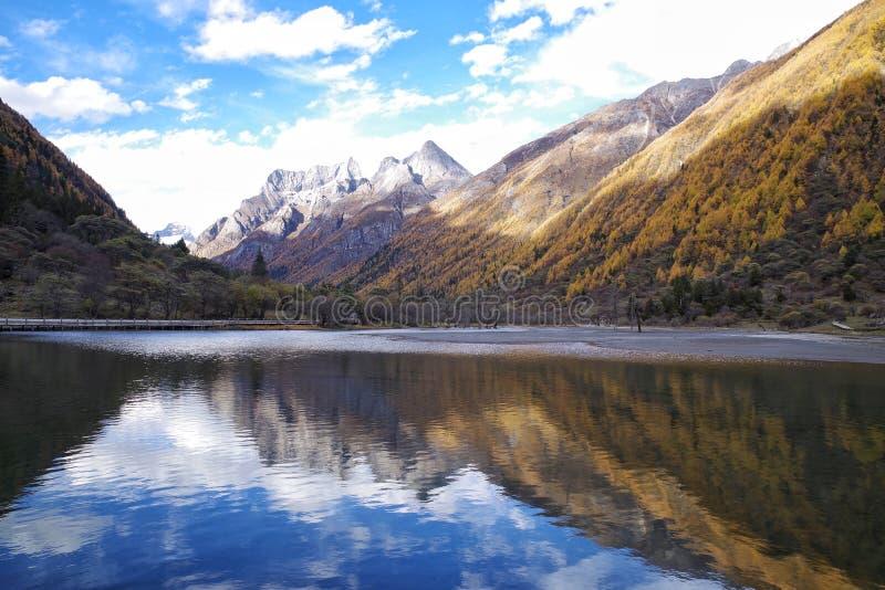 China西部四川湖倒象宽视野 库存图片