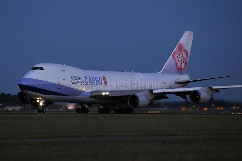 China Airlines Cargo, evening view royalty free stock photography