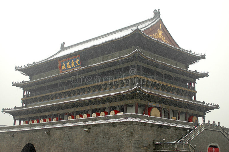China-alte Architektur lizenzfreie stockbilder