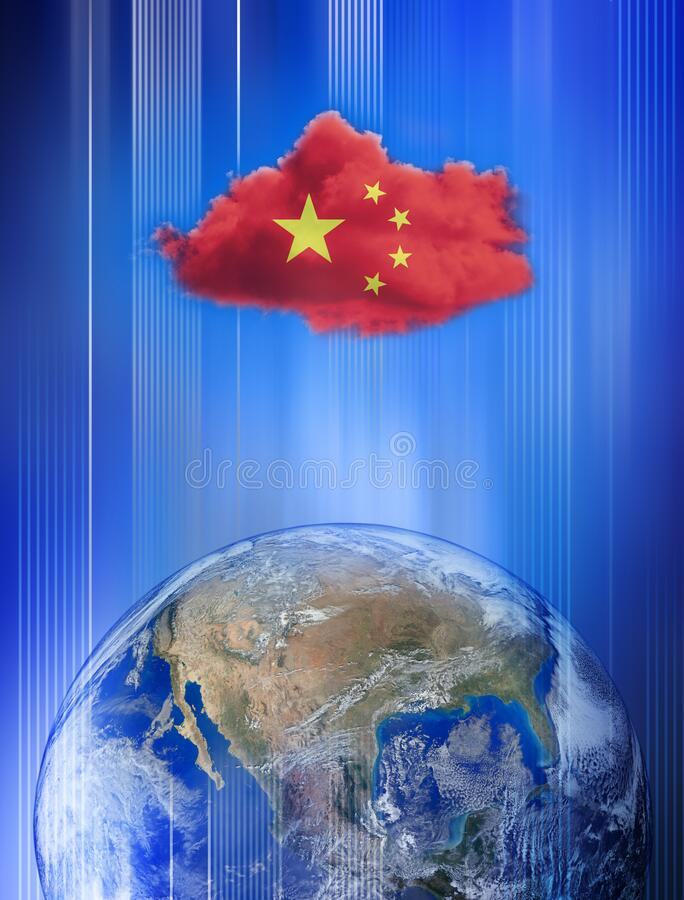 China Chinese America Conflict Trade War Surveillance royalty free stock image