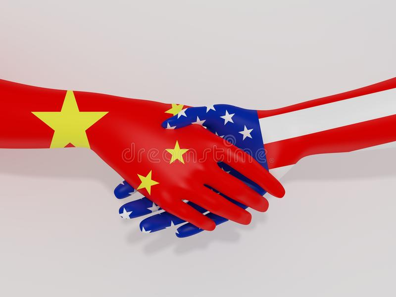 China America Deal royalty free illustration