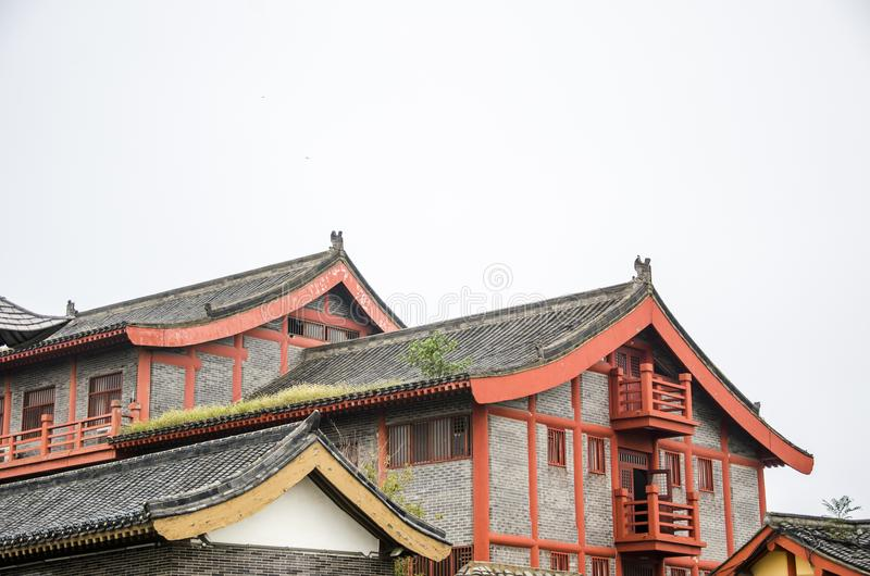 China ancient architecture. Henan province has a long tradition culture and history which has many excellent cultural projects from time immemorial, the cradle stock photography
